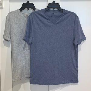 Men's H & M v neck tees set of 2